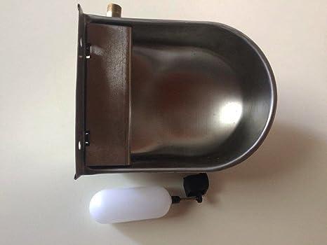 Bebedero Automático de acero con grifo y tapón de desagüe para perros Capacidad la barreño L