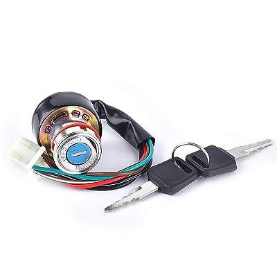 6 Wire Ignition Key Switch for Taotao Roketa Sunl Kazuma Baja Pocket Mini Bike Dune Buggy Go-kart: Automotive