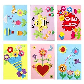 Dsaren 6 Sets DIY Tarjeta de Felicitación Niños Creativa ...