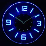 cnc2001-b Round Numerals Illuminated Edge Lit Bar Beer Neon Sign Wall Clock with LED Night Light