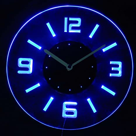 Amazon cnc2001 b round numerals illuminated bar beer neon sign cnc2001 b round numerals illuminated bar beer neon sign wall clock with led night light aloadofball Image collections