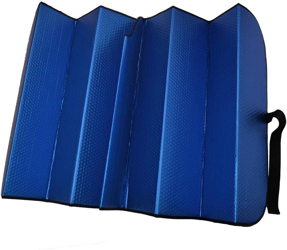 Motor Trend AS-312-BL Blue Front Windshield Shade-Jumbo Accordion Folding Auto Sunshade for Car Truck SUV-Blocks UV Rays Sun Visor Protector-Keeps Your Vehicle Cool-66 x 27 Inch