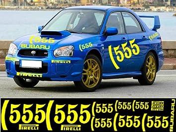 555 Subaru Wrx Rally Sti P1 Graphics Decal Sticker Kit Dark Blue