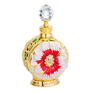 LAYALI Rouge Perfume Oil for Women 15mL | Sweet, Juicy and Tropical Oriental Parfum | Sultry Coconut, Sandalwood and Rose | Natural Alcohol Free Attar | Body Oil by Fragrance Artisan Swiss Arabian Oud