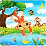 Facial Recognition Os X - DZT1968 22kinds Wooden Puzzle cartoon Educational Development Baby Training Toy Christmas Gift (I)