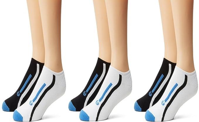 Champion – Pantalones de Pack de 3 CALCETINES deportivos, color negro, talla 12 –
