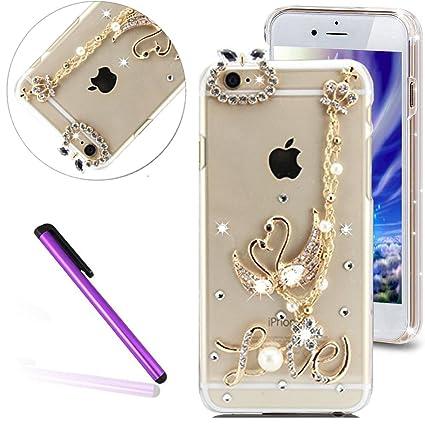 quality design a8d5f 049f4 6 Case iPhone 6S Case EMAXELER Bling Swarovski Crystal Rhinestone Diamond  Clear Slim Premium Hard PC Case for iPhone 6/6S 4.7