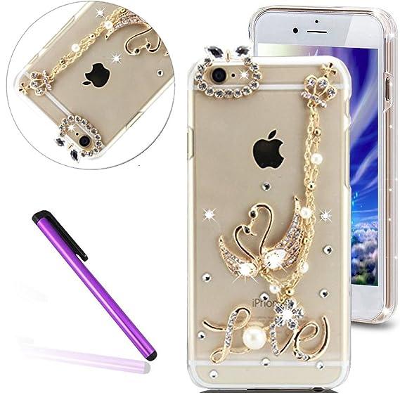 52859cffeb6491 iPhone SE Case 5 Case iPhone 5S Case EMAXELER Bling Swarovski Crystal  Rhinestone Diamond Clear Slim