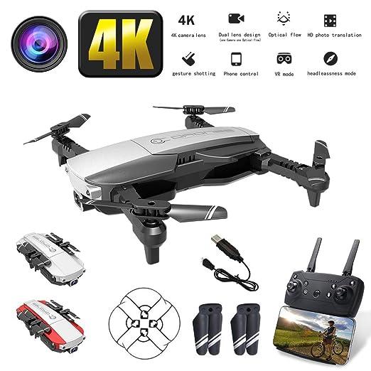 JohnnyLuLu Drone RC H3 FPV con cámara 4K HD, FPV WiFi Control ...