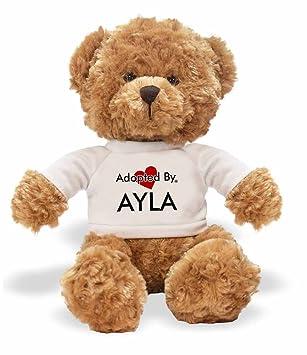adoptedby TB1 Ayla oso de peluche con un nombre personalizado camiseta