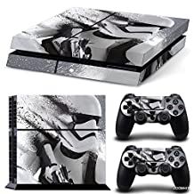 Ps4 Playstation 4 Console Skin Decal Sticker Star Wars Battlefront Stormtrooper + 2 Controller Skins Set