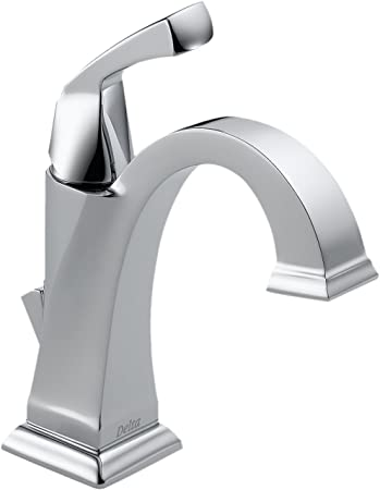 Chrome Delta Faucet 551T-DST Dryden Single Handle Centerset Bathroom Faucet with Touch 20.XT Technology