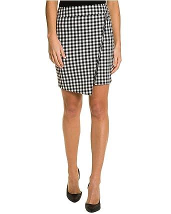 cd888f82a LE CHÂTEAU Gingham Asymmetrical Hem Skirt at Amazon Women's Clothing ...