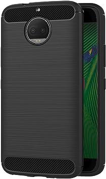AICEK Funda Moto G5S Plus, Negro Silicona Fundas para Motorola ...