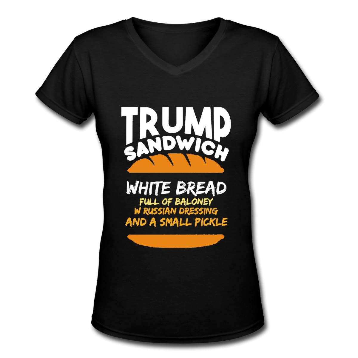 Trump Sandwich Anti Trump Impeacht T Shirt Short Sleeve Black
