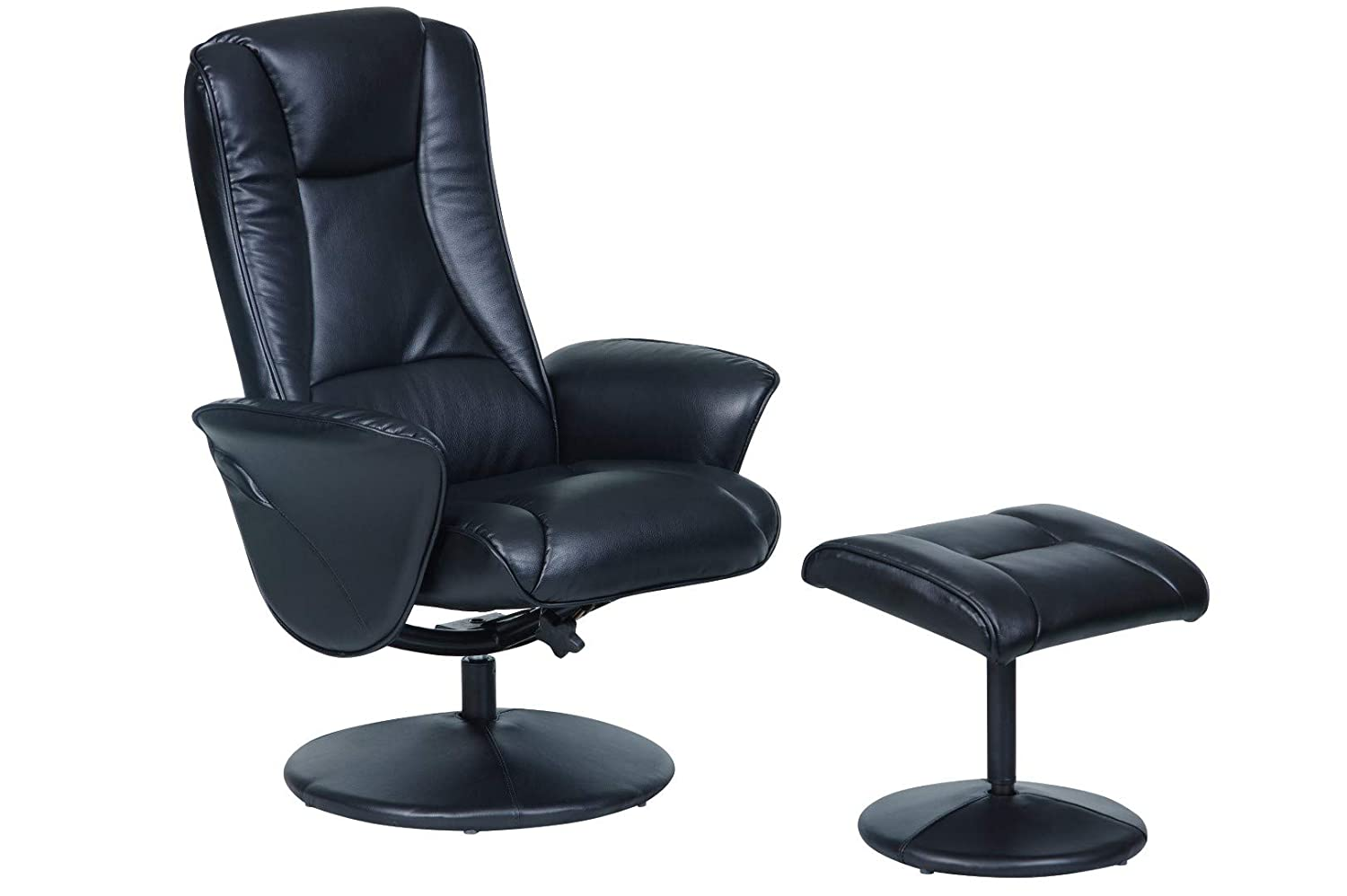 Memory Foam Swivel Recliner Chair /& Footstool in choice of 3 colours. Chocolate Morris Living The Naples