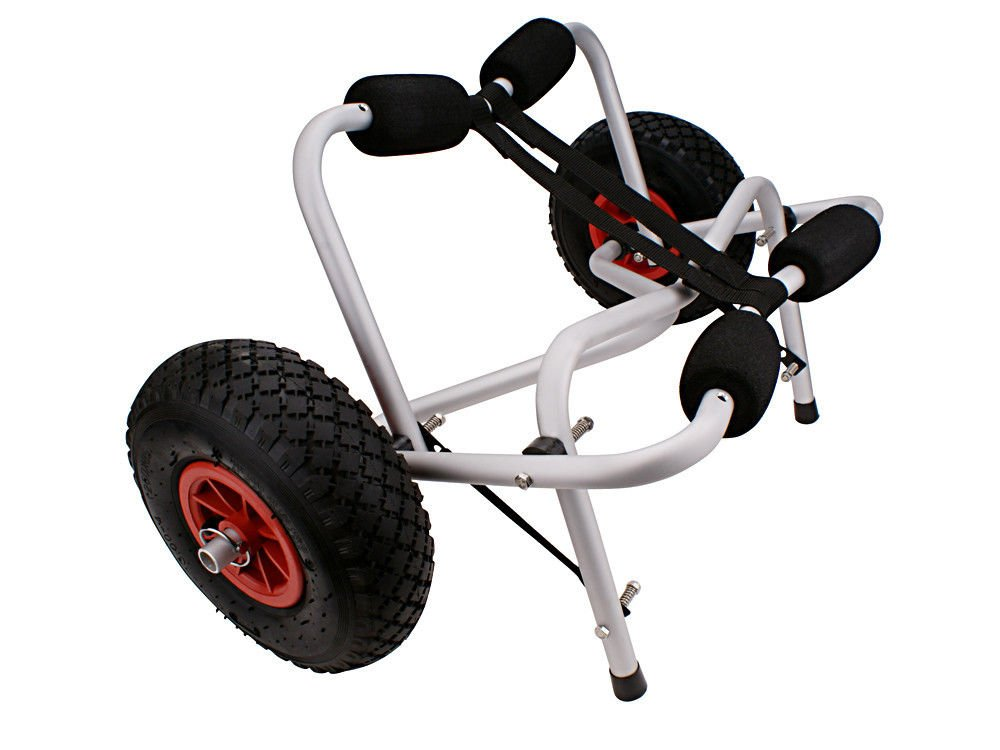 Eight24hours New Boat Kayak Canoe Carrier Dolly Trailer Tote Trolley Transport Cart Wheel