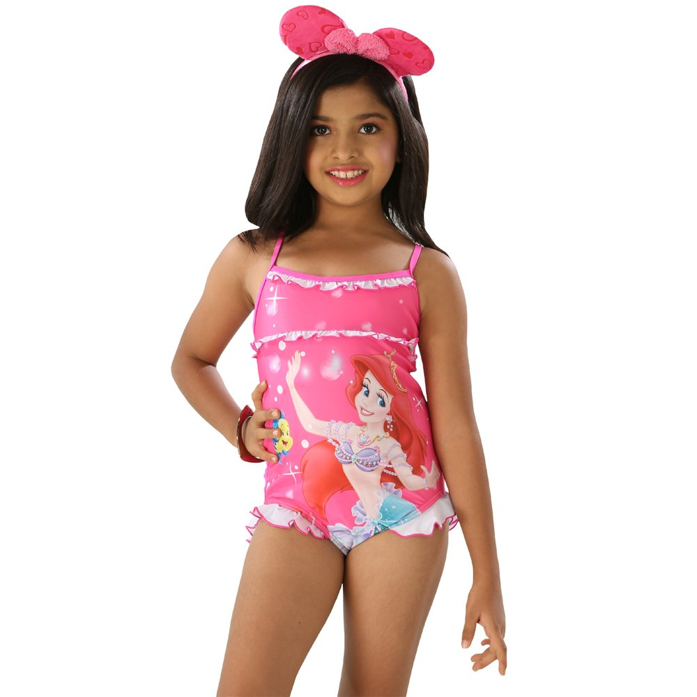 156ad256d27bc Fascinating Lingerie The Little Princess-Girls Pleasant Multi Pink Color  Scoop Neck One Piece Swim Suit (3-4 Years): Amazon.in: Clothing &  Accessories
