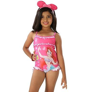 0b8139681f578 Fascinating Lingerie The Little Princess-Girls Pleasant Multi Pink Color  Scoop Neck One Piece Swim