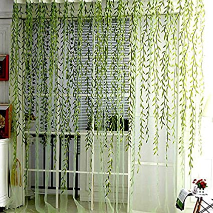 Willow Voile Tulle Window Curtain 78quot X 39quot Sheer Panel Drapes