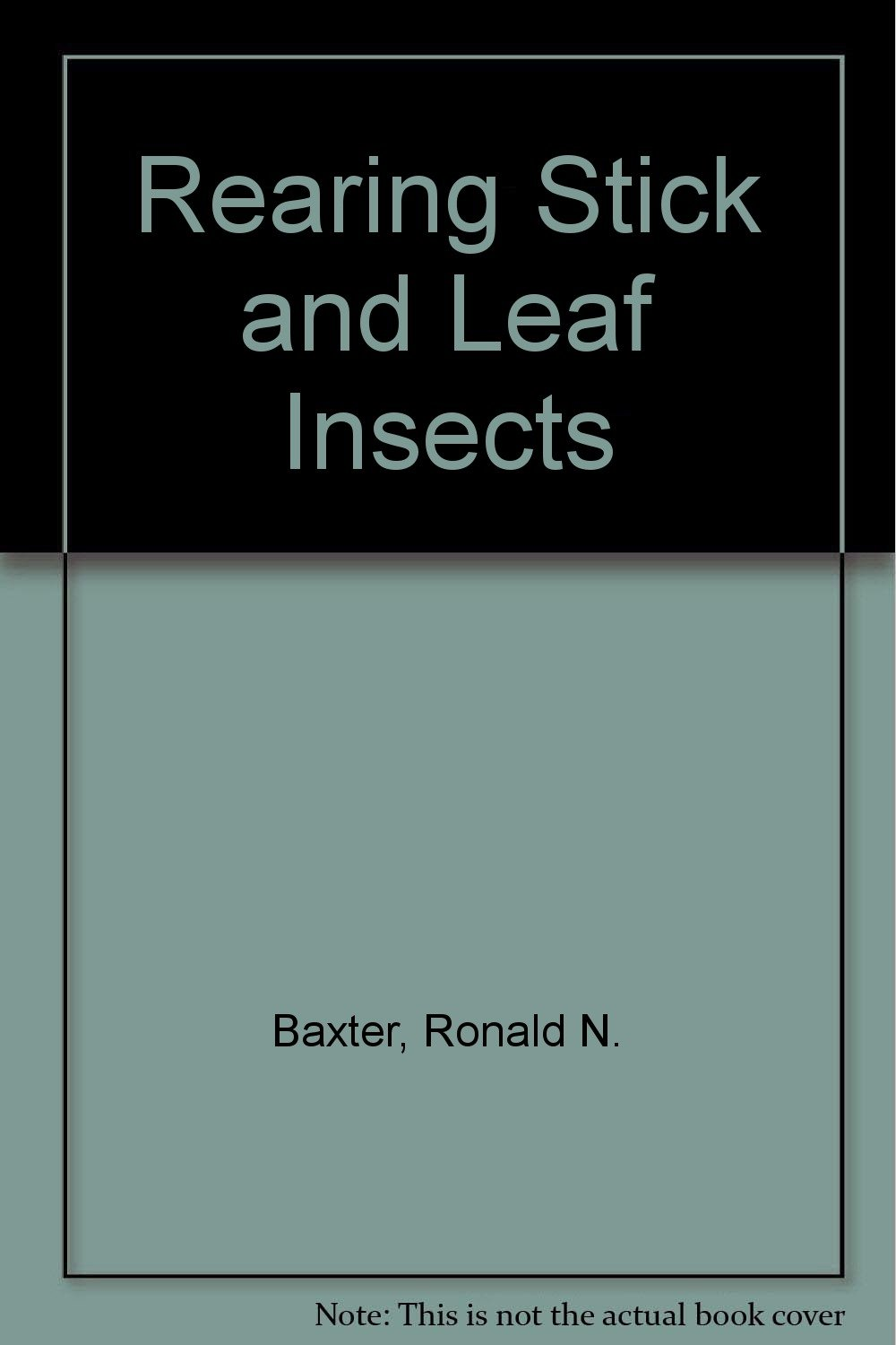 Rearing Stick and Leaf Insects