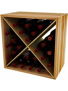 wine storage cube wine rack for 24 wine bottles