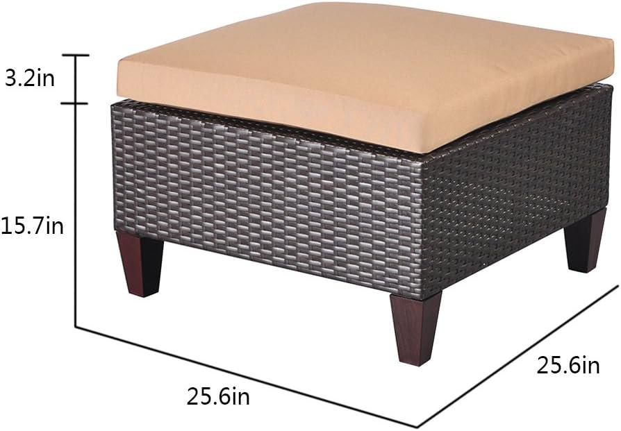 outdoor storage ottoman cube resin