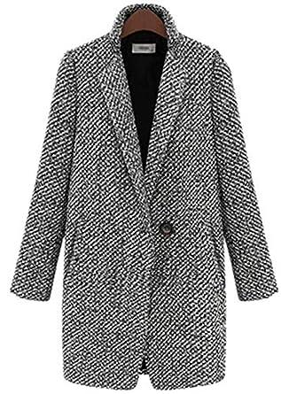 acheter en ligne a7a1f 62dac YOGLY Manteau Femme Hiver Blouson en Laine Veste Manches Longues Chaud  Épais Hiver Grande Taille S-7XL