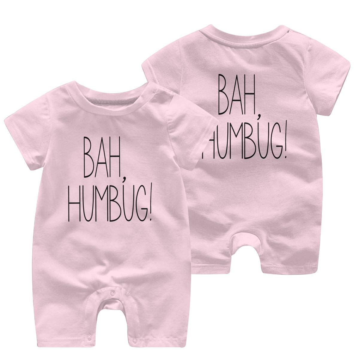 Srggkjs Bah/&Humbug Baby Boys Girls Clothes Funny Short Sleeve Jumpsuit