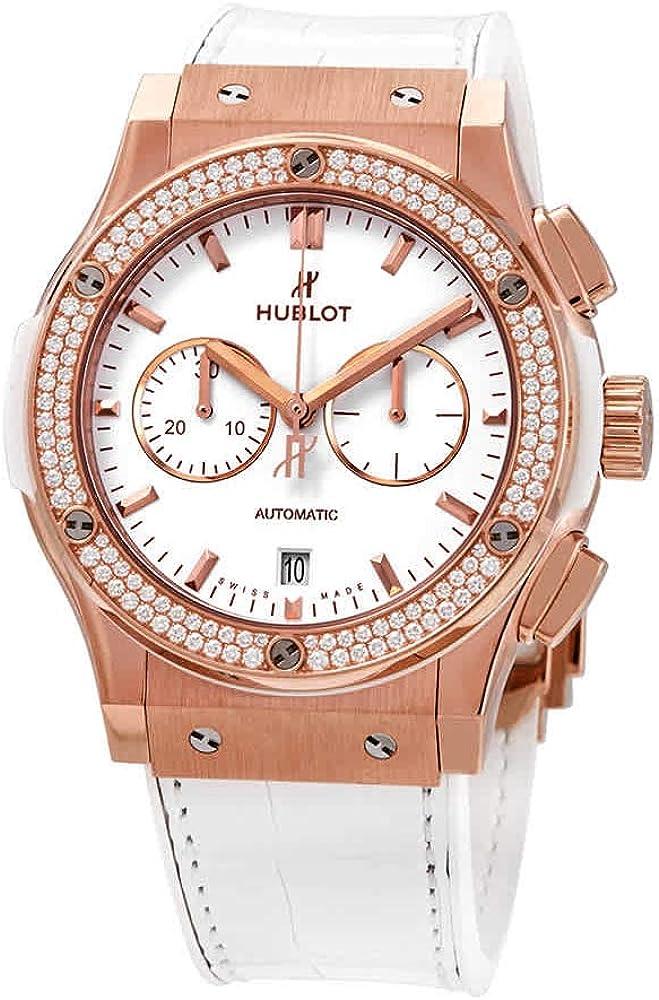Hublot Classic Fusion Chronograph Rose Gold Diamonds Watch 541.OE.2080.LR.1104