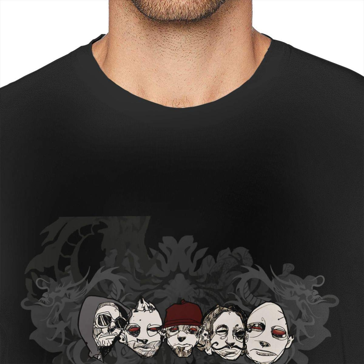 Hodenr Mens Fashion Limp Bizkit Tees Black