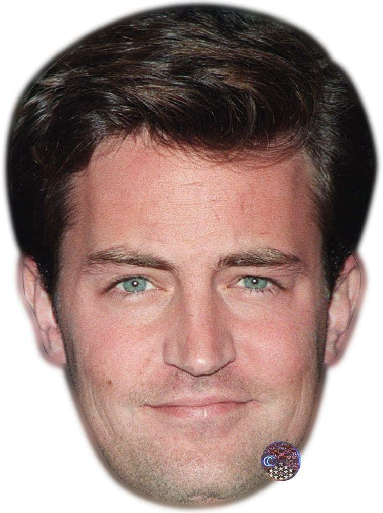 Card Face and Fancy Dress Mask Matthew Perry Celebrity Mask Young