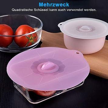 Küche Silikon Abdeckung Lebensmittel frisch halten Deckel Vakuum M8A2
