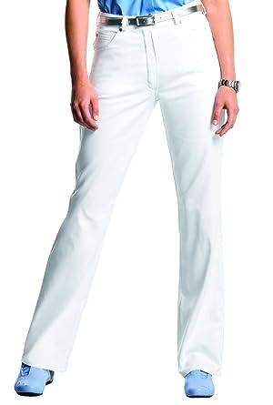 ed932f2346 clinicfashion Stretch Jeans Hose Damen weiß, Langgröße, Baumwolle, Größe 36-48:  Amazon.de: Bekleidung