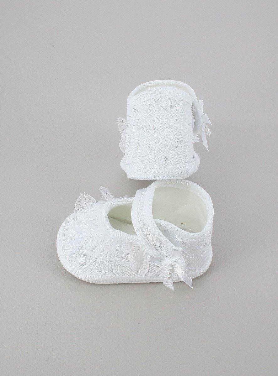 Boutique-Magique Chaussons de bapt/ême pour Fille avec Froufrou