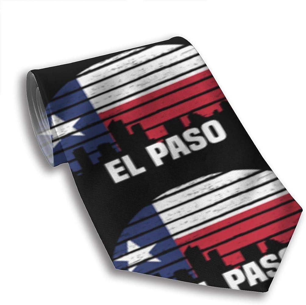 Corbata El Paso Texas City Silhouette Hombre Corbata Traje de ...