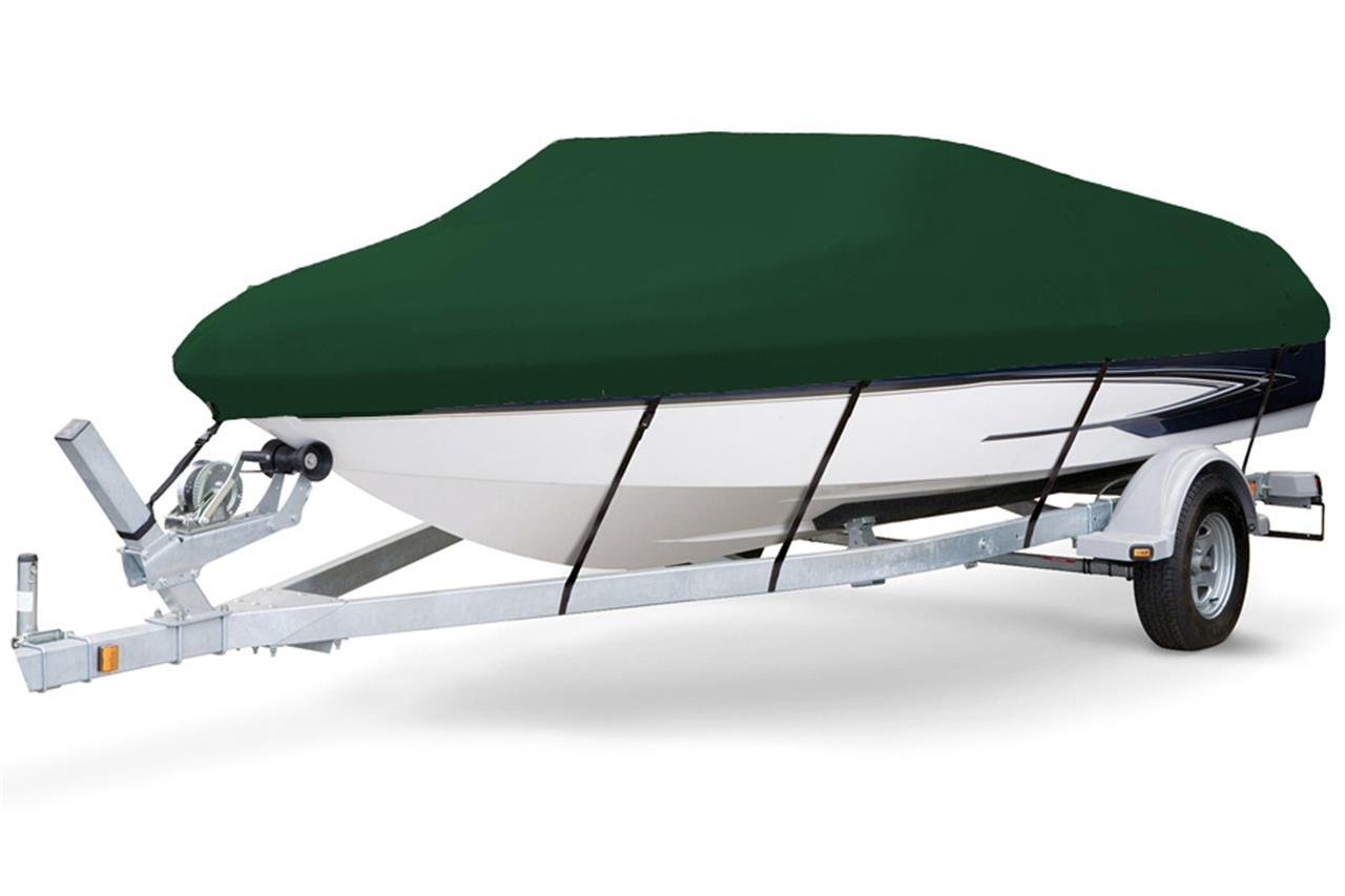 7 oz Solution Dyed Polyester Hunter Green, Styled to FIT Boat Cover for Monterey 217 Blackfin O/B 2014-2016 by SBU-CV