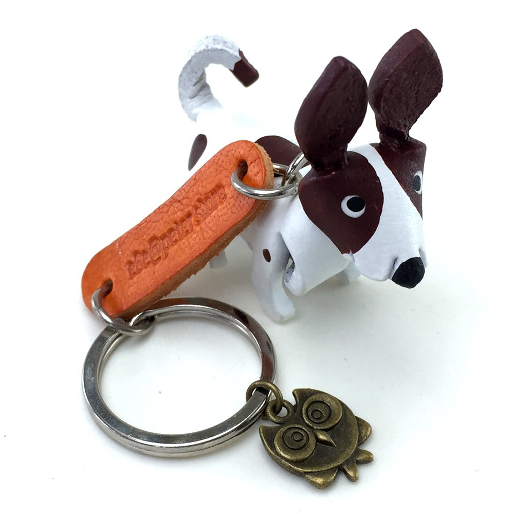 JACK RUSSELL 3D Animal Style So Cute Handcraft Leather Keychain Keyring Made in THAILAND