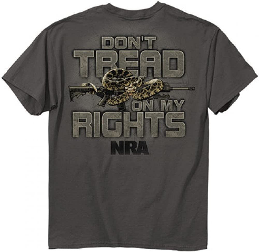 Buckwear NRA Don't Tread On Me Snake SS T-shirt - Charcoal