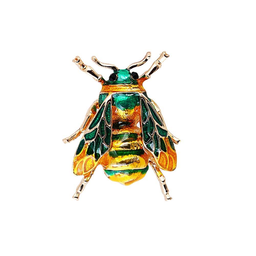 Sherineo Spilla Donna Gioiello Vintage Carino Smalto Insetto Bug Honey Bee Spilla in Metallo Pin Abbigliamento per Le Donne Vestiti delle Ragazze Decorazione Regalo di San Valentino 6 * 9 * 13cm