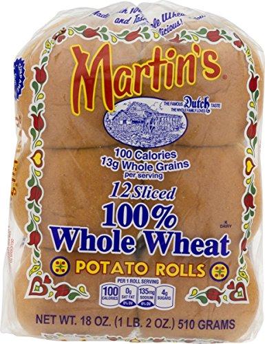 Martin's 100% Whole Wheat Potato Rolls - Pack of 3 ()