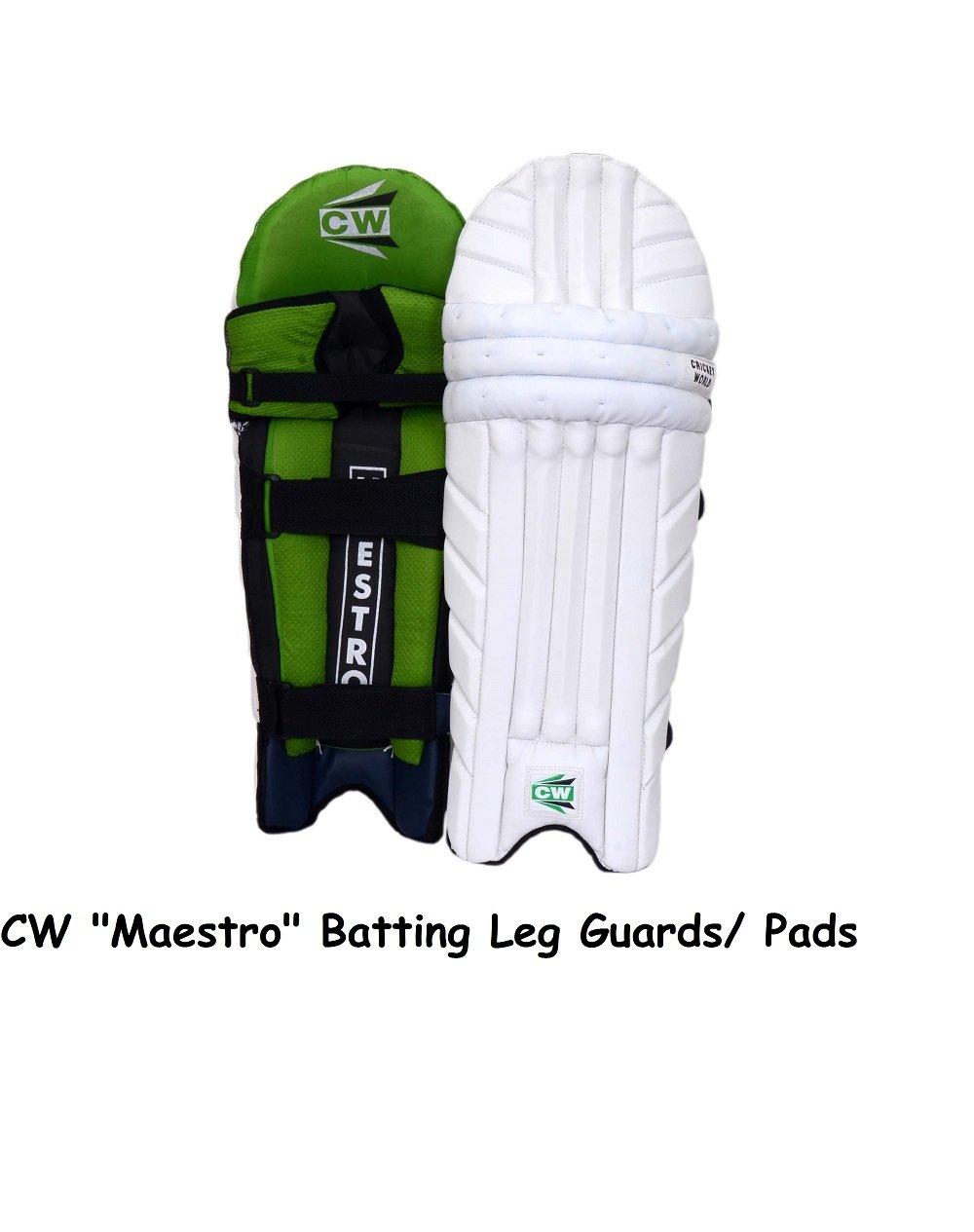 """CW """"Maestro"""" Premium Quality Men's Cricket Batting Leg Guards"""