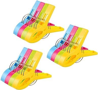 12 Stück Badetuch Clips Wäscheklammern Handtuchklemmen für Wäsche Strandtuch