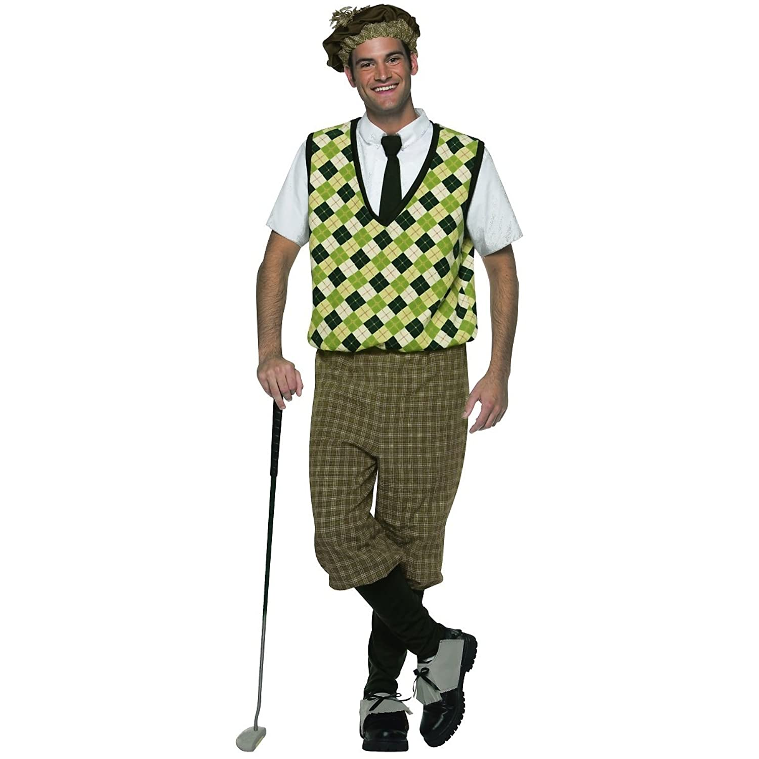 1930s Men's Costumes Original Old Tyme Golfer Adult Costume $50.00 AT vintagedancer.com