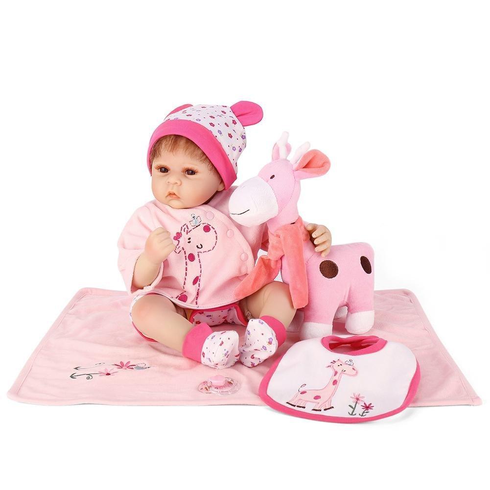 chinatera Kids Toy NPK Cute Realistic Lifelike Simulation Reborn Doll Soft Silicone Artificial Kids Cloth Doll