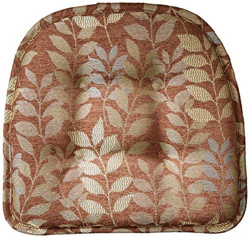 Klear Vu Gripper Non-Slip Dora Leaves Tufted Chair Cushions, 15