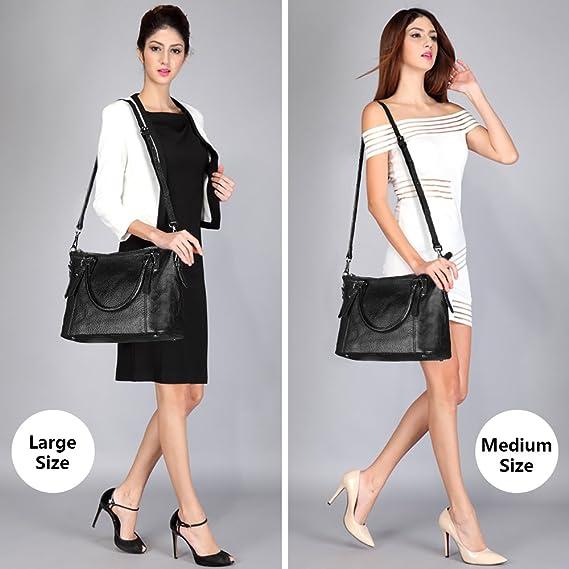 Women Genuine Leather Handbag Work Tote Shoulder Purse Crossbody BagWomen Genuine Leather Handbag Work Tote Shoulder Purse Crossbody Bag