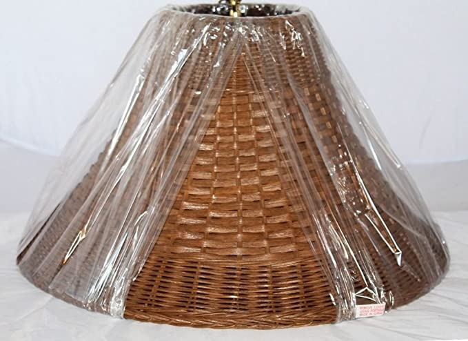 Wicker Rattan Lamp Shade Exclusively By Lamp Shade Pro Sizes 12 20 Wide Brown Or White Genuine Hand Crafted Botanical Lampshade For Table Floor Lamps W Soft Luxury Lining Option 12 5 Wide Brown Amazon Com