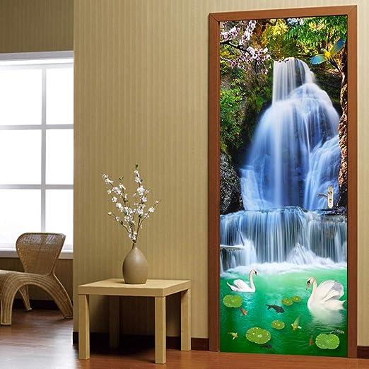 3D Door Wall Sticker Decals Waterproof Self Adhesive Scenery Mural Home Decor