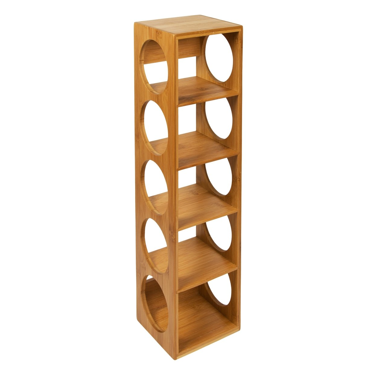woodluv bamboo stackable wine rack stand holder amazoncouk  - woodluv bamboo stackable wine rack stand holder amazoncouk kitchen home